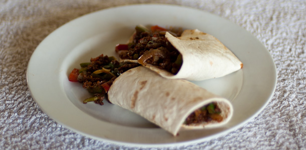 Soya Mince in Wraps