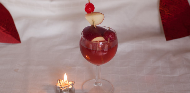 Cream Soda & Pomegranate Cocktail